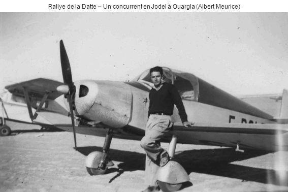 Rallye de la Datte – Un concurrent en Jodel à Ouargla (Albert Meurice)