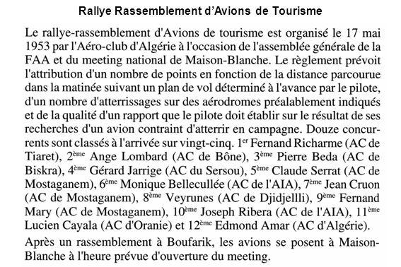 Rallye Rassemblement d'Avions de Tourisme