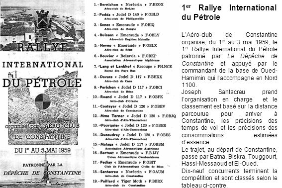1er Rallye International du Pétrole
