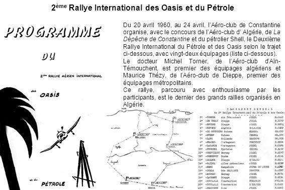 2ème Rallye International des Oasis et du Pétrole
