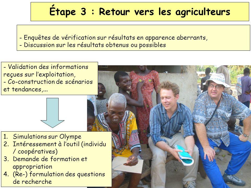 Étape 3 : Retour vers les agriculteurs