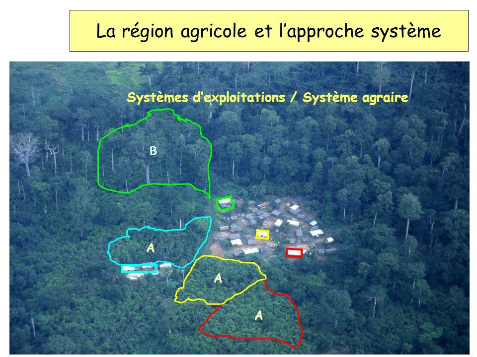 La région agricole et l'approche système
