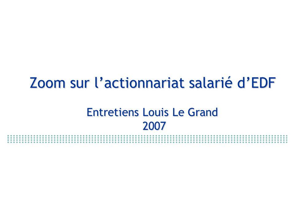 Zoom sur l'actionnariat salarié d'EDF Entretiens Louis Le Grand 2007
