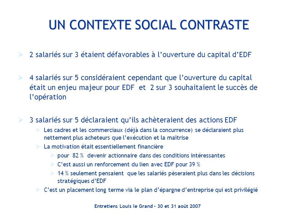 UN CONTEXTE SOCIAL CONTRASTE