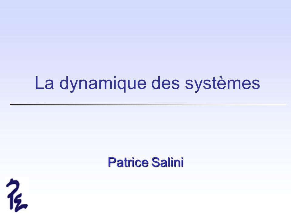 La dynamique des systèmes
