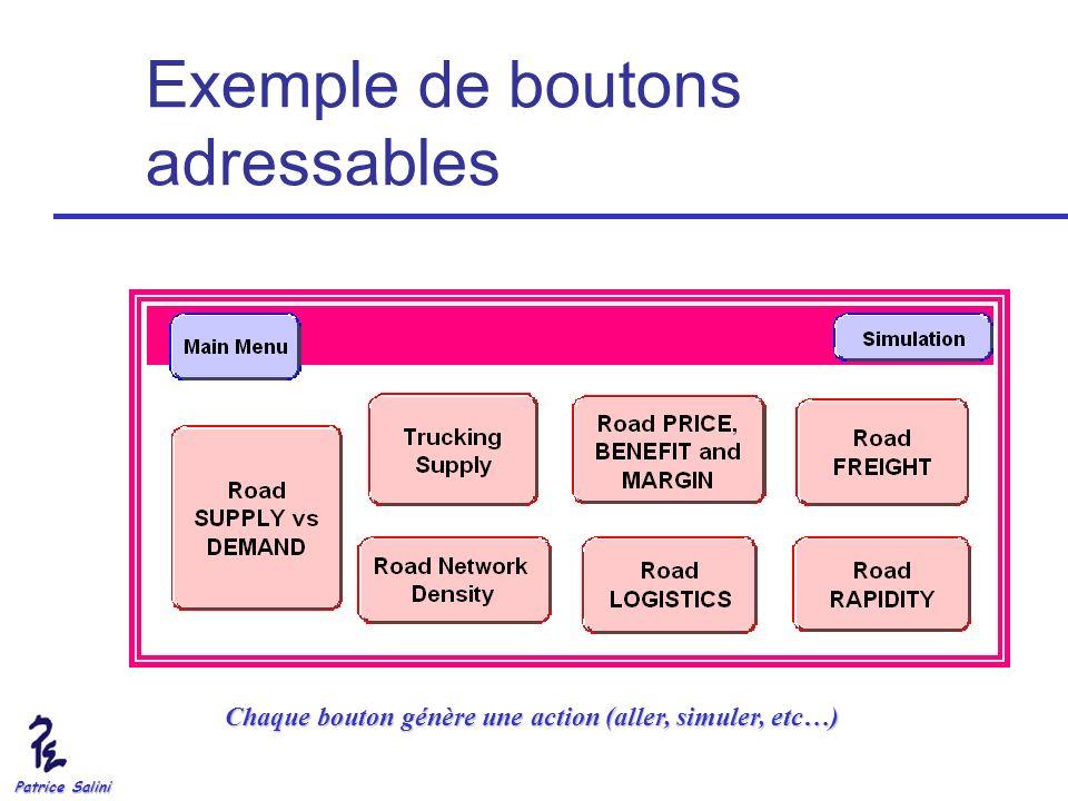 Exemple de boutons adressables