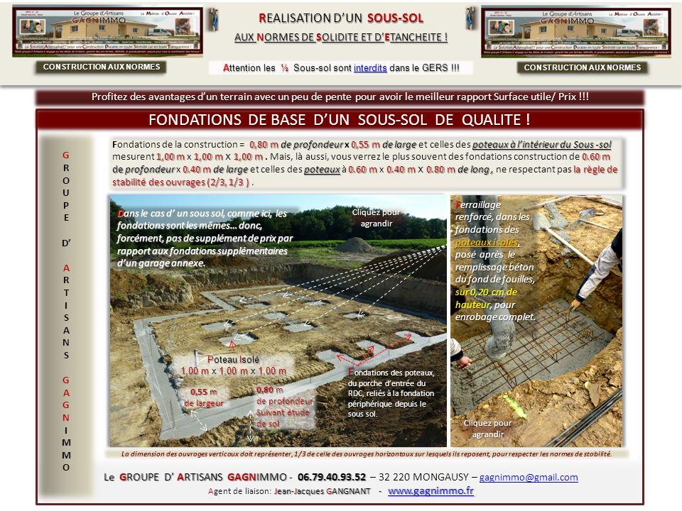 CONSTRUCTION AUX NORMES CONSTRUCTION AUX NORMES