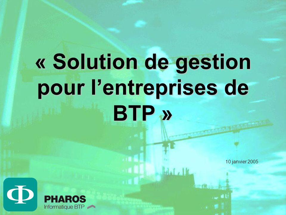 « Solution de gestion pour l'entreprises de BTP »