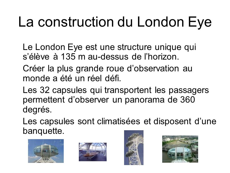 La construction du London Eye