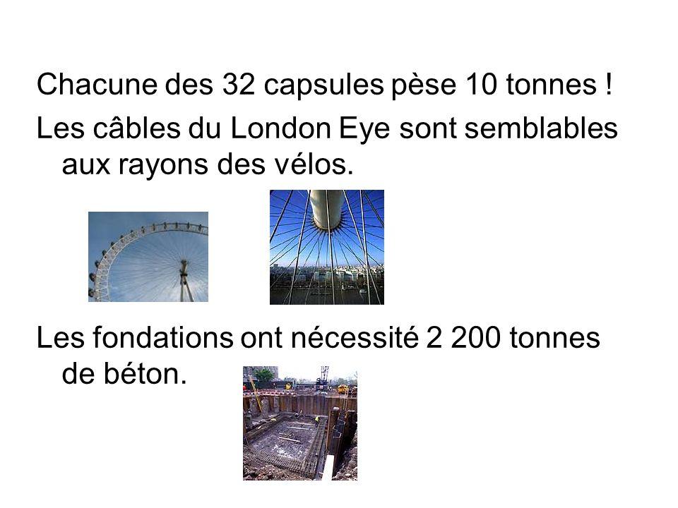 Chacune des 32 capsules pèse 10 tonnes !