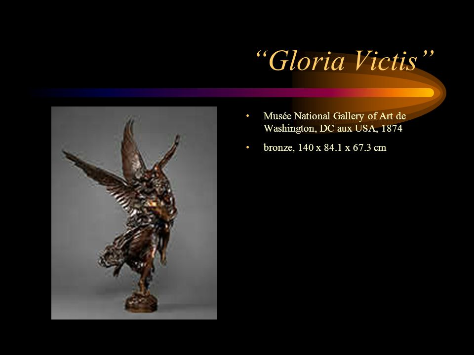 Gloria Victis Musée National Gallery of Art de Washington, DC aux USA, 1874.