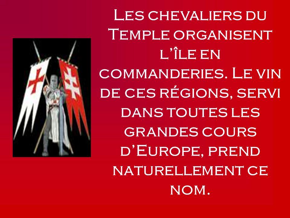 Les chevaliers du Temple organisent l'île en commanderies