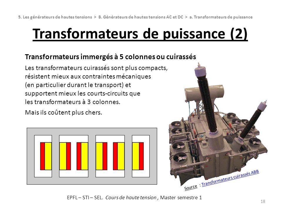 Transformateurs de puissance (2)