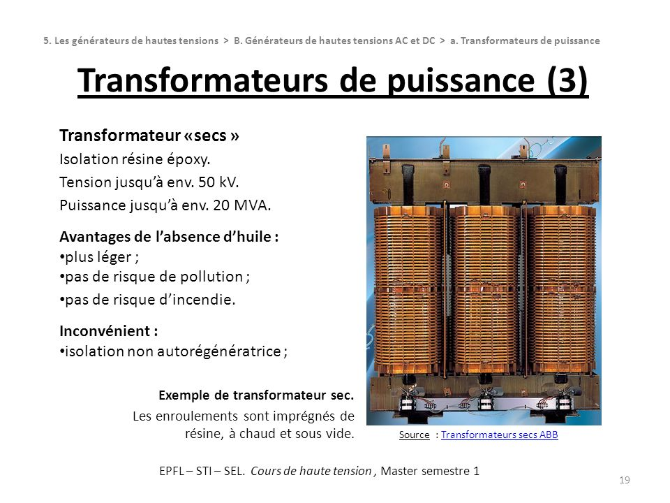 Transformateurs de puissance (3)
