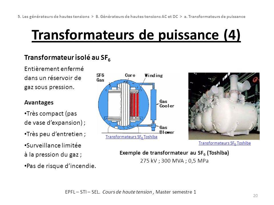Transformateurs de puissance (4)