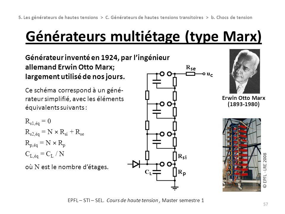 Générateurs multiétage (type Marx)