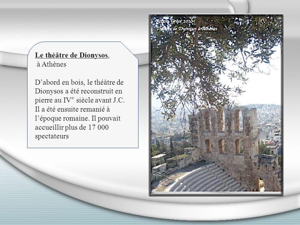 Le théâtre de Dionysos, à Athènes.