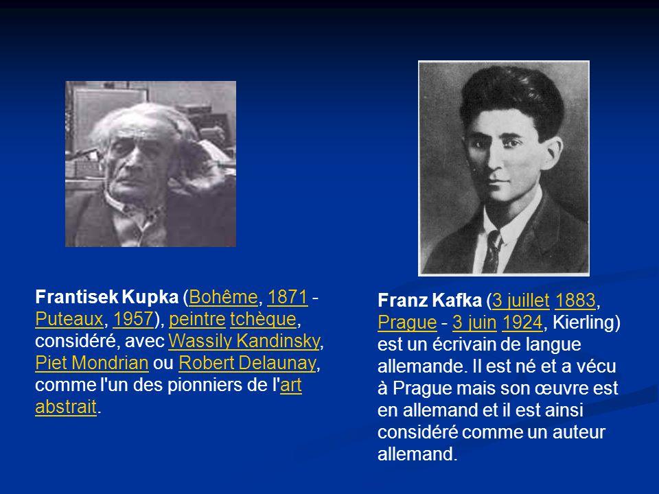 Frantisek Kupka (Bohême, 1871 - Puteaux, 1957), peintre tchèque, considéré, avec Wassily Kandinsky, Piet Mondrian ou Robert Delaunay, comme l un des pionniers de l art abstrait.