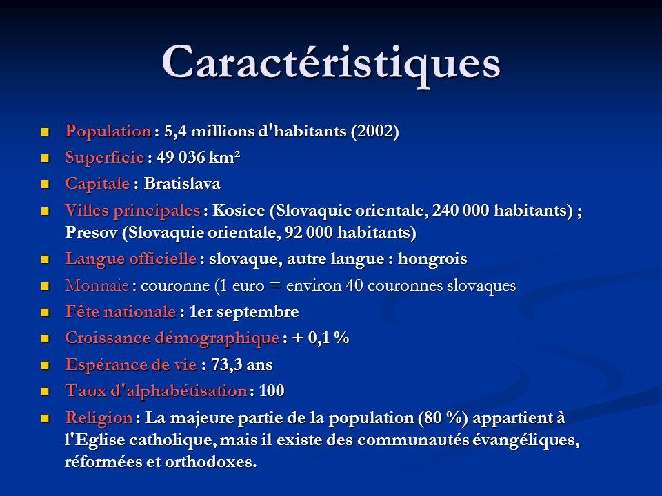 Caractéristiques Population : 5,4 millions d habitants (2002)