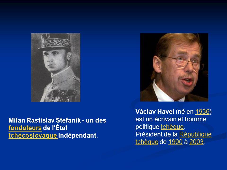 Václav Havel (né en 1936) est un écrivain et homme politique tchèque