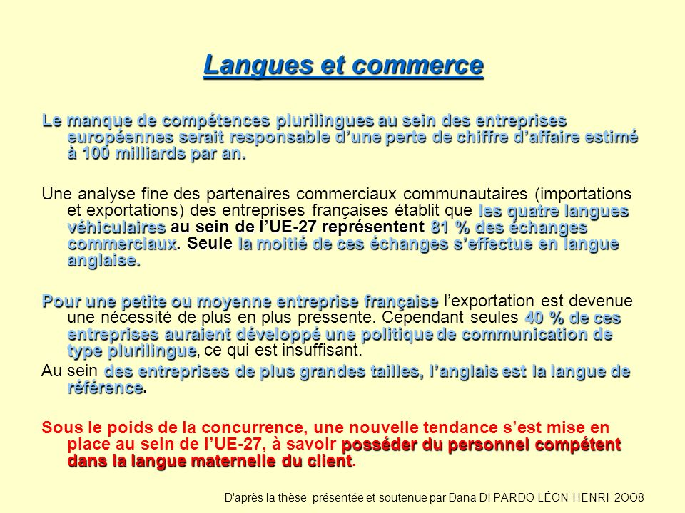 Langues et commerce