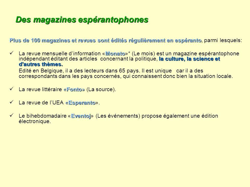 Des magazines espérantophones