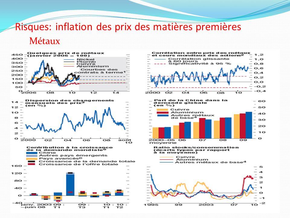 Risques: inflation des prix des matières premières