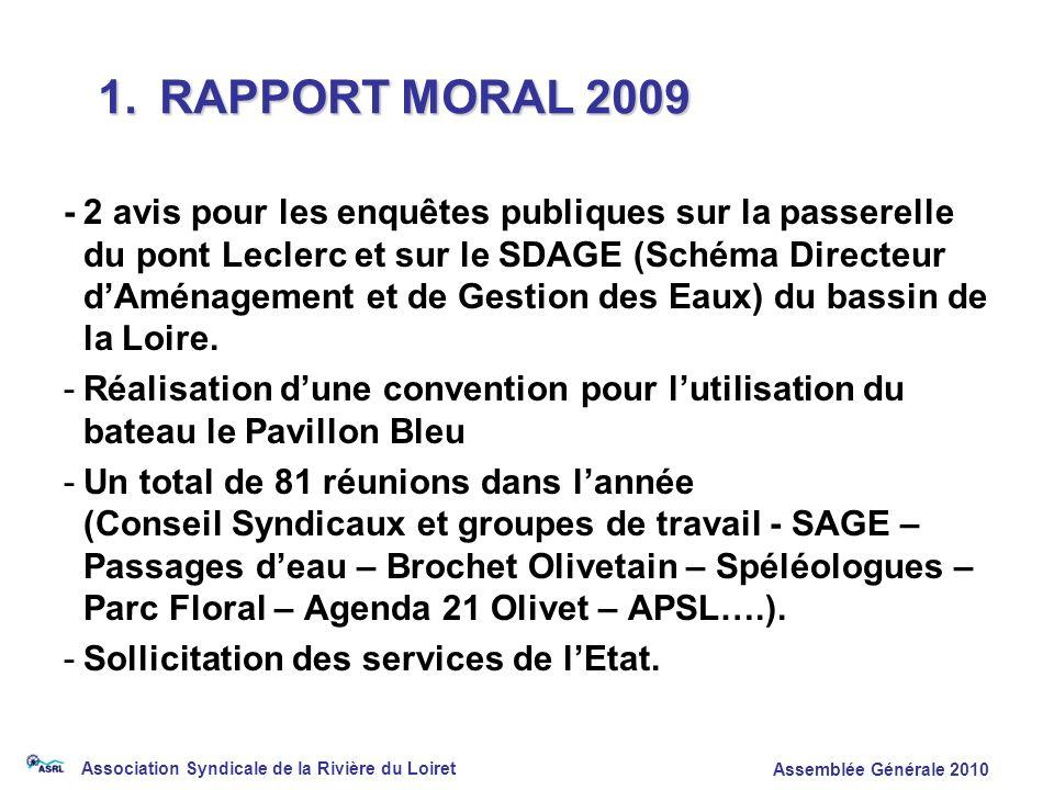 1. RAPPORT MORAL 2009