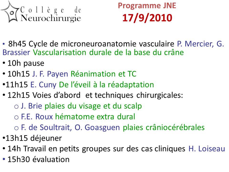 10h15 J. F. Payen Réanimation et TC