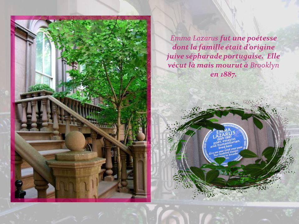 Emma Lazarus fut une poétesse dont la famille était d'origine juive sépharade portugaise.