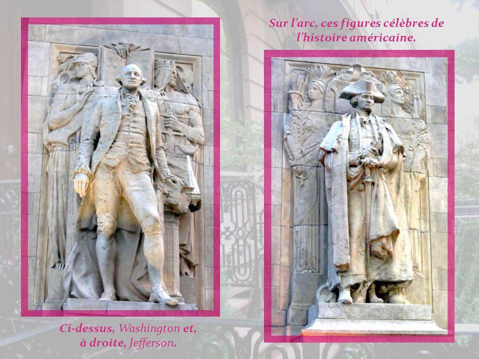 Sur l'arc, ces figures célèbres de l'histoire américaine.