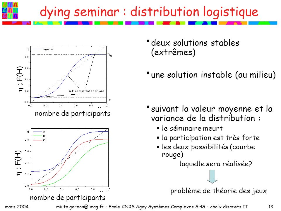 dying seminar : distribution logistique