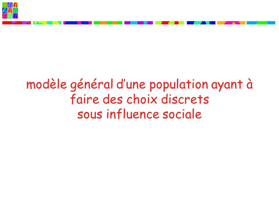 modèle général d'une population ayant à faire des choix discrets sous influence sociale