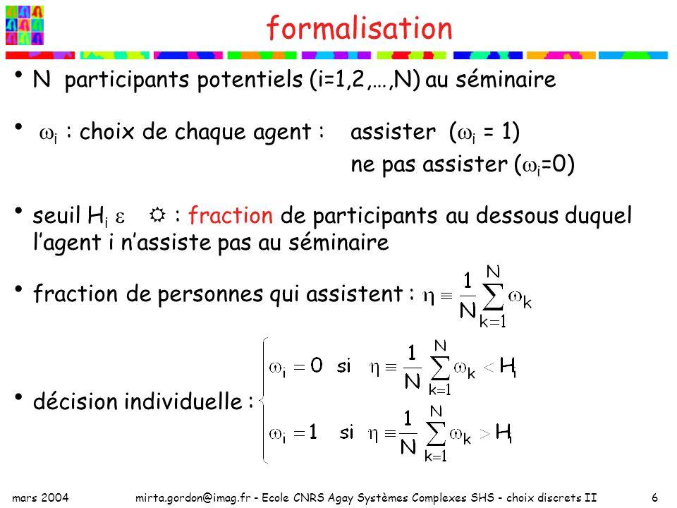 formalisation N participants potentiels (i=1,2,…,N) au séminaire