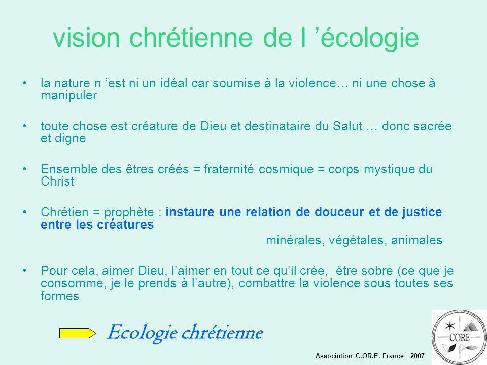 vision chrétienne de l 'écologie