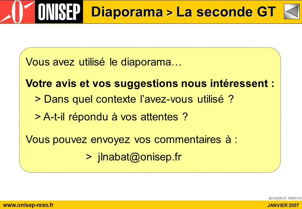 Diaporama > La seconde GT www.onisep-reso.fr JANVIER 2007