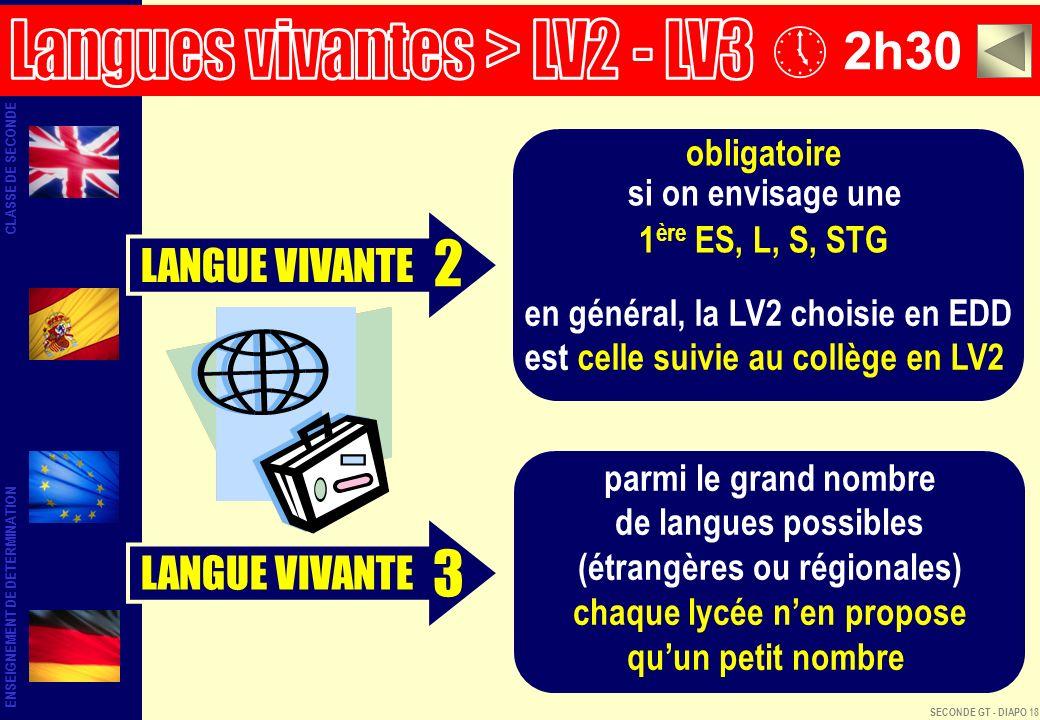 2 3 2h30 Langues vivantes > LV2 - LV3 LANGUE VIVANTE LANGUE VIVANTE