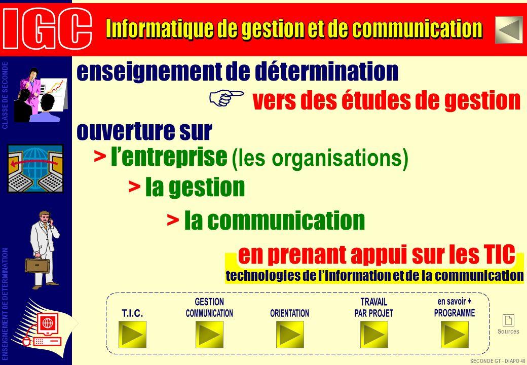 F IGC Informatique de gestion et de communication