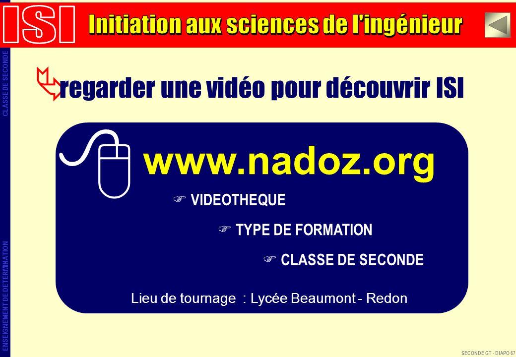 www.nadoz.org regarder une vidéo pour découvrir ISI ISI