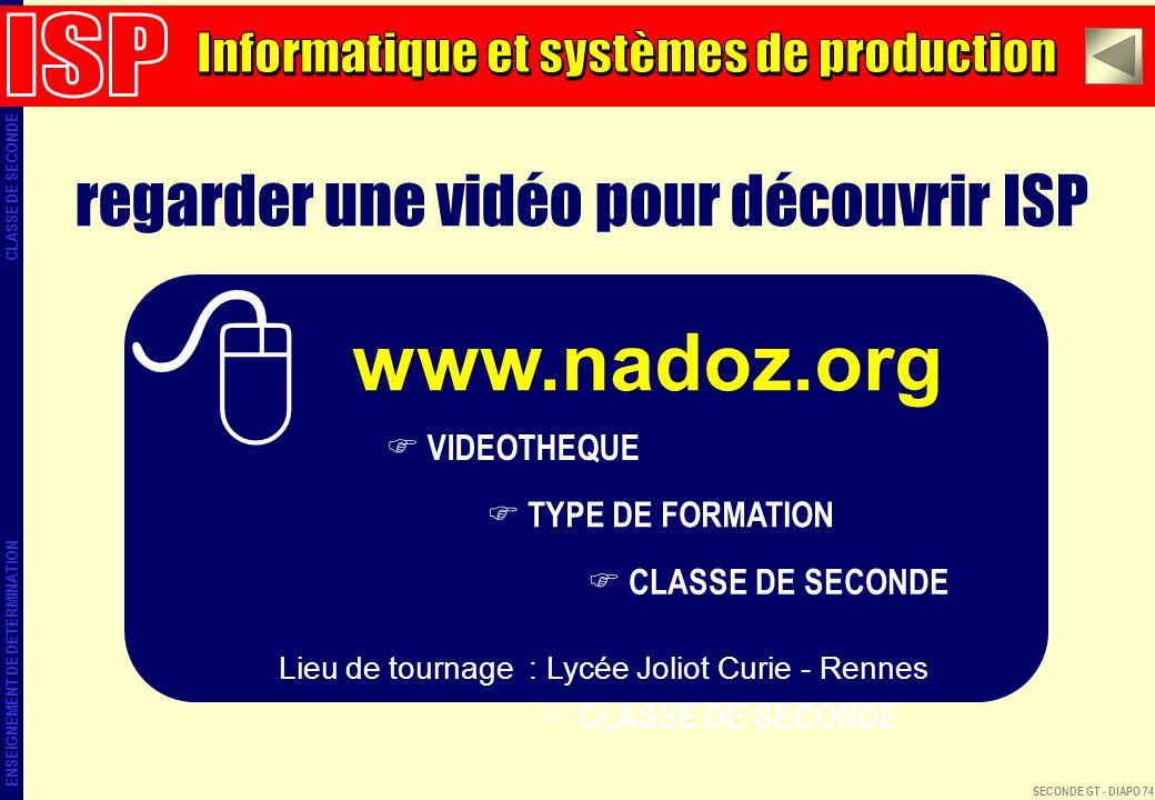 www.nadoz.org regarder une vidéo pour découvrir ISP ISP