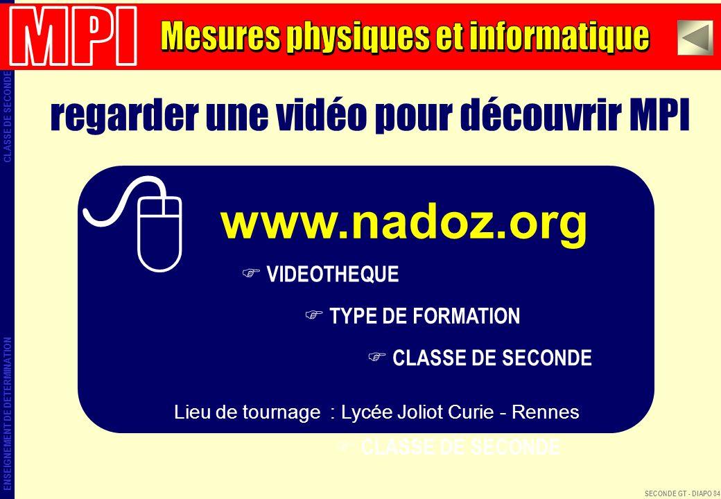 www.nadoz.org regarder une vidéo pour découvrir MPI MPI