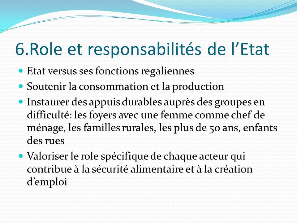 6.Role et responsabilités de l'Etat