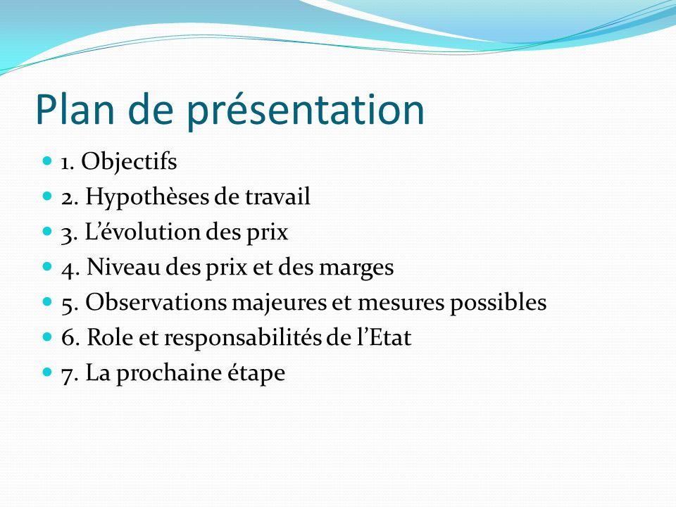 Plan de présentation 1. Objectifs 2. Hypothèses de travail