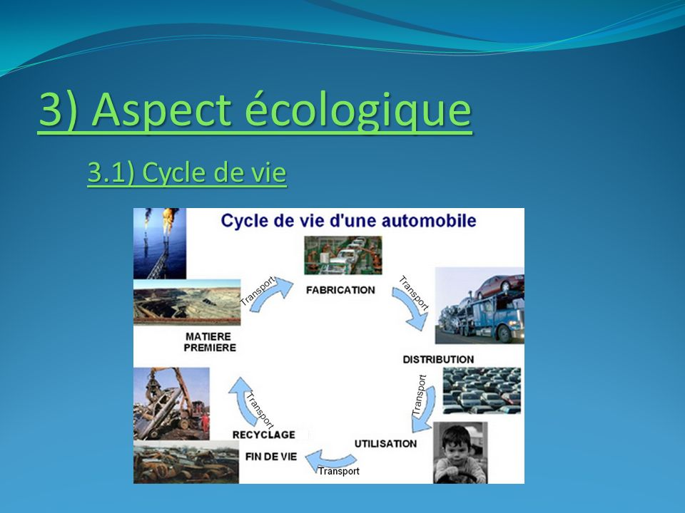 3) Aspect écologique 3.1) Cycle de vie