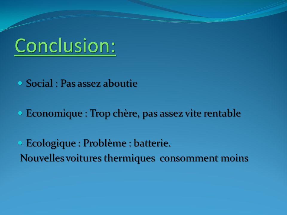 Conclusion: Social : Pas assez aboutie