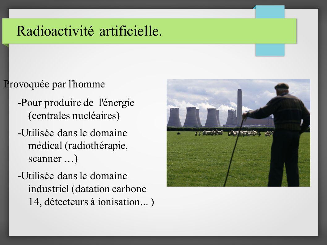 Radioactivité artificielle.