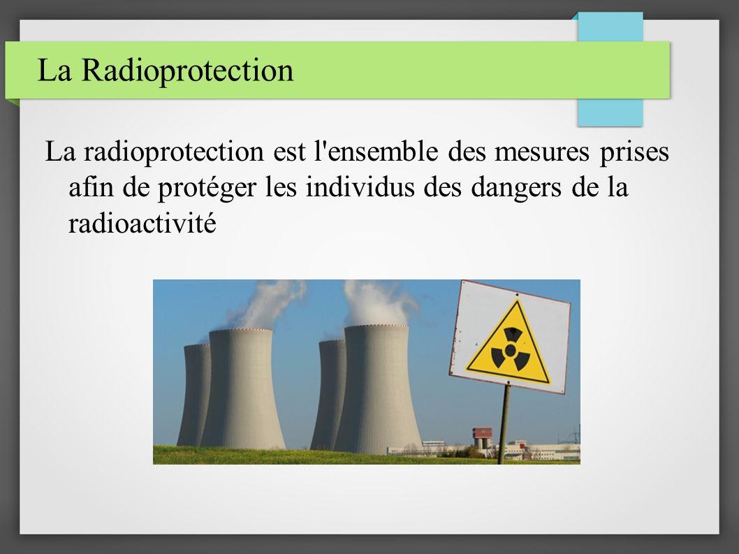 La Radioprotection La radioprotection est l ensemble des mesures prises afin de protéger les individus des dangers de la radioactivité.