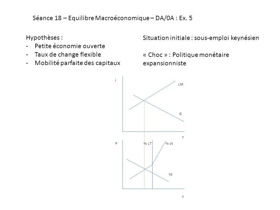 Séance 18 – Equilibre Macroéconomique – DA/0A : Ex. 5