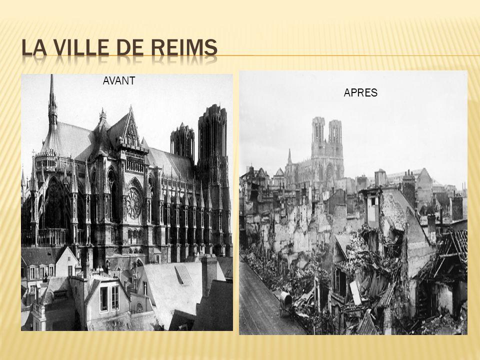 La ville de Reims AVANT APRES