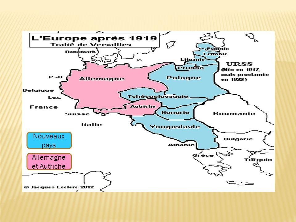 Nouveaux pays Allemagne et Autriche